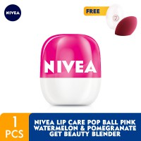 NIVEA Lip Pop Ball Pink Watermelon & Pomegranate GET Beauty Blender