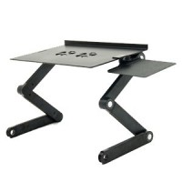 Multifunctional Aluminium Alloy Adjustable Portable Laptop Stand With Mouse Desk and USB Cooler Fan
