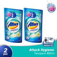 Attack Clean Maximizer Refill Pouch 800mL 2PCS