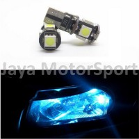 Lampu LED Mobil / Motor / Senja T10 w5w / Wedge Side Canbus 5 SMD 5050 - Crystal Blue