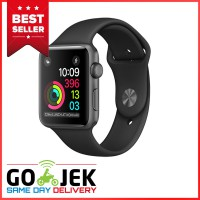 Apple Watch 2 Series 2 - 42mm Space Gray Aluminum Case with Black Sport Band - Garansi Resmi Apple