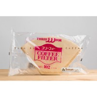 Three For Coffee Filter For Trapesium 102 Brown 40Pcs