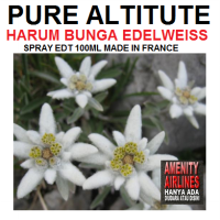 EDT PURE ALTITUDE HARUM BUNGA EDELWEISS - 100ML 100% MADE IN FRANCE