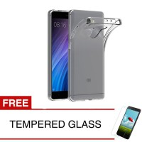 Case for Xiaomi Redmi 4 Prime - Clear + Gratis Tempered Glass - Ultra Thin Soft Case