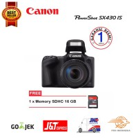Canon PowerShot SX430 IS Wi-Fi Free Memori 16 GB Promo