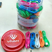 ViVAN Micro USB Cable CBM80 | Candy 5 Colour | Stronge | Free Toples*
