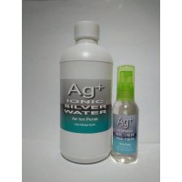 Ionic Silver Water (Ag+) Air Ion Perak Multifungsi, Antibakteri, virus & Jamur - Paket COMBO SPRAY