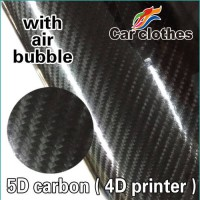 [globalbuy] 50x150cm Car Vinyl Wrapping Film 5D Carbon Fiber Vinyl (4D printer)/3083171