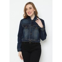 Mobile Power Ladies Jacket Bolero Jeans - Navy Blue N401