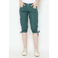 Mobile Power Ladies 3/4 Plain Pants - Sacramento Green N5341