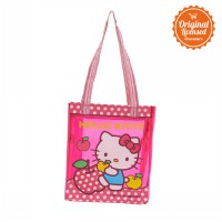Hello Kitty Stripes Hand Bag Pink