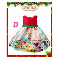 Dress Pesta Natal Anak My Little Pony
