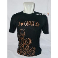 Kaos Distro I Love Coffee