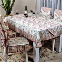 [globalbuy] Linen-cotton red plaid table cloth tablecloths / cafe restaurant coffee table /2499260