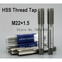 [globalbuy] Free delivery 1PCS TG M22*1.5 high speed steel left tooth machine taps anti te/2502077