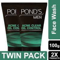 POND'S Men Acne Clear Oil Control Face Wash 100 gr Twin Pack
