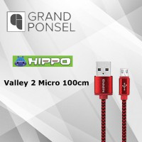 Kabel Data Hippo Valley 2 Micro 100cm Fast Charging USB Cable