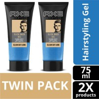 AXE Hairstyling Slick Back Shine Gel 75 ml Twin Pack