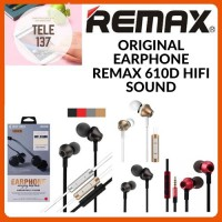 EARPHONE REMAX ORIGINAL HEADPHONE RM-610D STEREO BASS