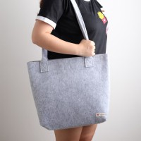 UCHII Felt Eco Friendly Totebag L | Tas Travel Belanja Unisex Kancing