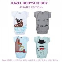 Isi 4 | Size 0 - 2y - Kazel Bodysuit/ Jumper Bayi Motif Pirates Edition