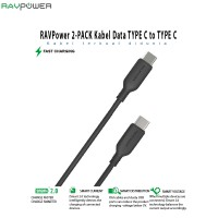 RAVPower 2-PACK Kabel Data TYPE C to TYPE C [RP-CB009]