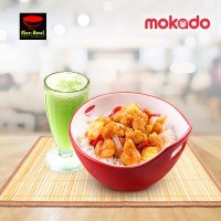 Rice Bowl : Sweet & Sour Chicken + Melon Juice
