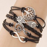 Gelang Korea Multicharm Tree Owl Music Peace Coffee KB39887