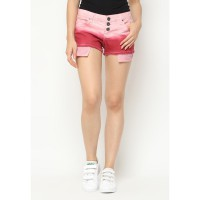 Mobile Power Ladies Ombre Two Color Short Pants Fringe Finishing -  Pink Muda Pink Tua K5528