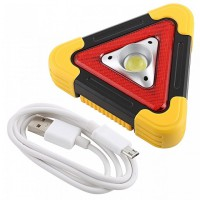 HB-6609 Portable Solar Rechargable Multi-Function Working Light 1000LM Yellow