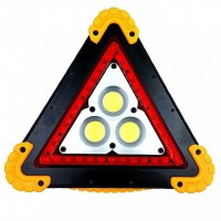 W838 - Triangle Warning Rechargable Emergency Light 36 LED 1600 Lumens Green