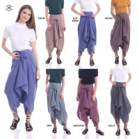 New Available / Aladin Pants / Hailey Knot Drappery Pants / Blooming Pants / layer Pants / Best Seller!!