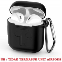 Ugreen Silicone Case Cover for Airpods & Free carabiner - Hitam