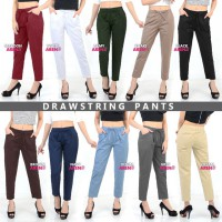 WOMEN PANTS / FIT TO L-XXL / Celana Basic / Drawstring / Formal / Casual