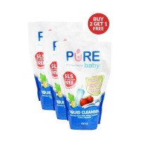 Pure Baby Liquid Cleanser Pembersih Botol Bayi Refill 700ml Buy2 Get1