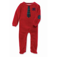 Mudpie Velour Necktie One-Piece #1032154