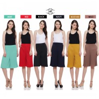 New Collection / Woman Cullotes / Midi Pleated Cullotes / Pleated mode / Good Quality