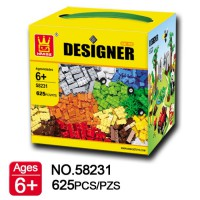 Mainan Anak Bricks Classic Wange Designer 58231 Blocks Klasik 625 Pcs
