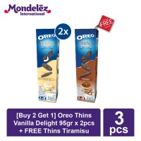 [Buy 2 Get 1] Oreo Thins Vanilla Delight 95gr x 2pcs + FREE Oreo