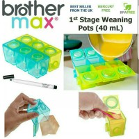 Brother Max Mpasi Baby Block 1St Stage Weaning Pots 40Ml Termurah02