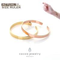 [POP UP AIA] Cocoa Jewelry Rules of Love Couple Bracelet Gold dan Rose Gold (Free Stud Earrings)