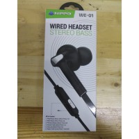 Obral Hippo Wired Headset WE-01 Stereo Bass - Hitam