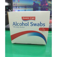 ALCOHOL SWABS GOLDEN CARE 70% ETHYL ALCOHOL 2 PLY ISI 100 PCS