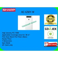 Sharp Air Purifier KC-G50Y-W with Humidifying Coverage 38m2