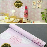 Wallpaper Sticker 10m Motif Bunga Sakura