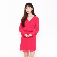 Women drap cocktail-casual dress-dress wanita best seller - 3 Colors / BAJU BARU