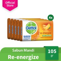 Dettol Barsoap Re-energize 105 gr Super Hemat (Isi 20)