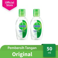 Dettol Hand Sanitizer Original 50 ml Bottle - 2 pcs