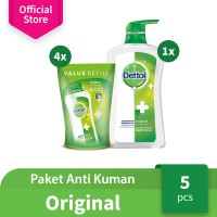 [Limited Offer] Dettol Sabun Mandi Cair - Original Value Pack - Anti Kuman - Wangi Cemara
