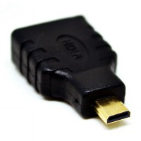 Converter Micro HDMI Male to HDMI Female Adapter (Gold Plated)